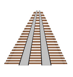 railway tracks or rail road line on white vector image
