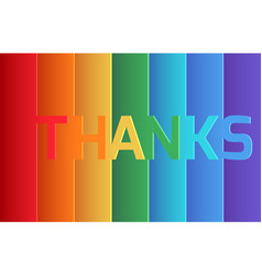 rainbow thank you origami paper layer card vector image