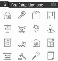 Reak Estate Icons vector image