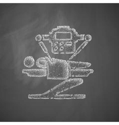 Robot surgeon icon vector