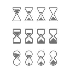 Sandglass icons vector