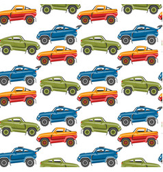 seamless pattern background luxury car vector image