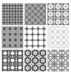 seamless pattern repeating geometric squares vector image