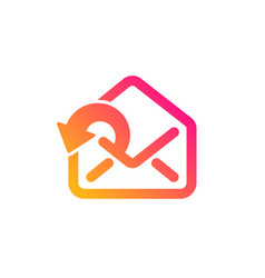 Send mail download icon sent messages vector