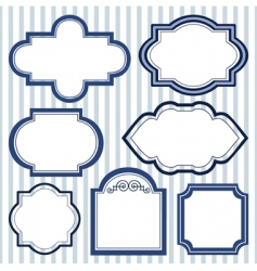 set of design frames vector image