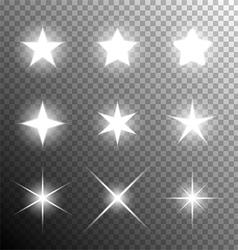 Shining stars vector image