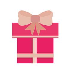 Shopping gift box vector