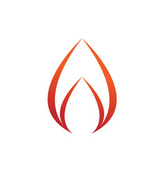simple swoosh flame fire symbol design vector image