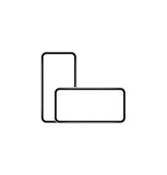 smartphones horizontal and vertical mockup vector image