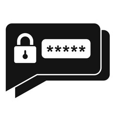 Sms authentication icon simple style vector