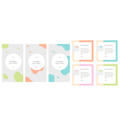 Social media influencer daily quote pastel vector
