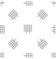 Solar panel pattern seamless vector