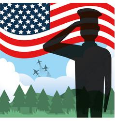Soldier usa design vector