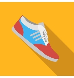 Sport shoes flat icon vector