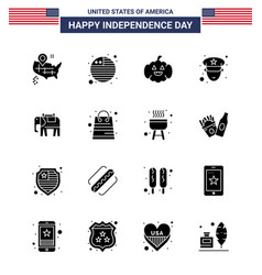 Stock icon pack american day 16 solid glyph vector