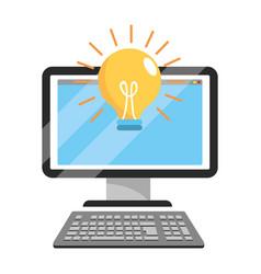 technology computer cartoon vector image