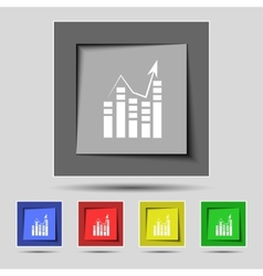 Text file icon Add document with chart sign vector image