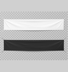 textile banners black and white blank horizontal vector image