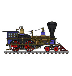 The vintage american steam locomotive vector