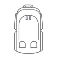 tourist backpack or hike bags knapsacks linear vector image vector image