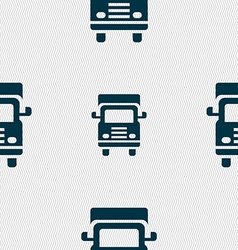 Transport truck icon sign Seamless pattern with vector image
