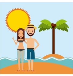 trip and vacations design vector image