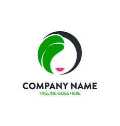 unique beauty logo template vector image