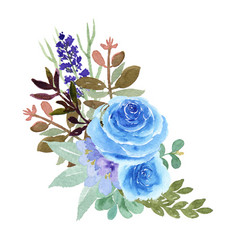 watercolor bouquets florals hand painted lush vector image