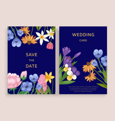 wedding card invitation design vector image