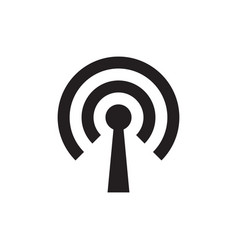 Wi-fi antenna black icon design vector