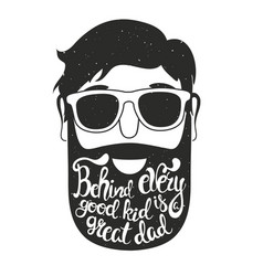 with man head in sunglasses vector image