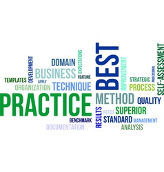 Word cloud best practice vector