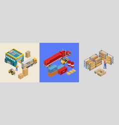 Work of storage facility vector