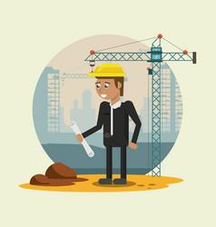 worker geometric cartoon vector image