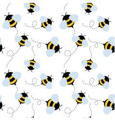 bee seamless pattern honey vector image