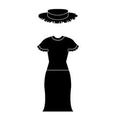 female typical farmer costume icon vector image