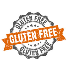 gluten free stamp sign seal vector image vector image