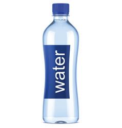 plastic bottle of clean water vector image vector image