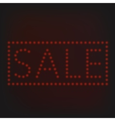 Red Sale sign vector image