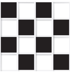 Seamless mosaic from black and white squares vector image