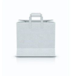 white shopping paper bag vector image vector image
