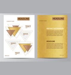 yellow brochure template vector image vector image