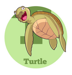 abc cartoon turtle5 vector image vector image