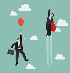 Businessman superhero fly pass Businessman with vector image vector image