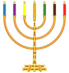 Golden Menorah vector image