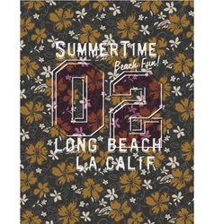 Long beach glamour girl vector image vector image