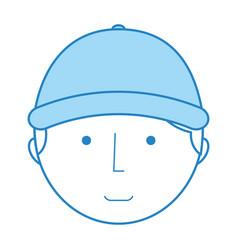 mechanic worker with cap vector image