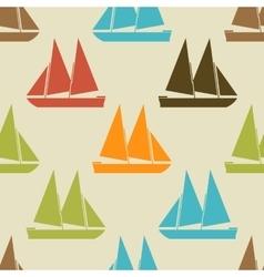 Retro boat seamless pattern vector image vector image