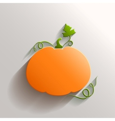 Abstract Pumpkin over White Background vector image