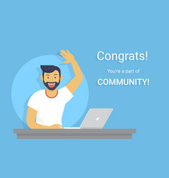 congratulations you are a part of community vector image vector image